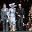 Lord Frederick Windsor et son épouse Sophie Winkleman avec le prince et la princesse Michael de Kent à la cathédrale St Paul de Londres le 5 juin 2012 après la messe pour le jubilé de diamant d'Elizabeth II.