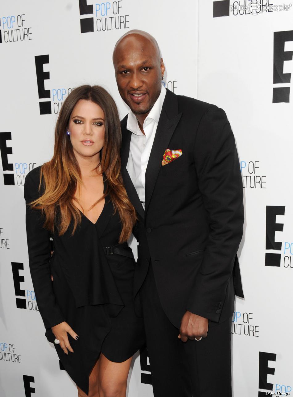 Khloe Kardashian et Lamar Odom à New York, le 12 avril 2013.
