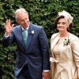 Tony Blair et Cherie Blair au mariage de leur fils Euan Blair à Wooten Underwood, le 14 septembre 2013.