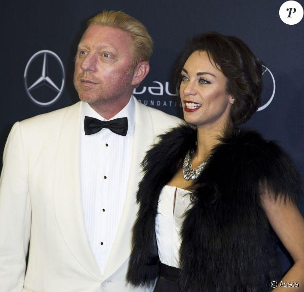 Boris Becker et sa sublime épouse Lilly lors du gala de charité des Laureus Sport for Good Night 2013 à l'Olympiahalle de Munich, le 20 septembre 2013