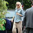 La popstar Gwen Stefani, enceinte, accompagne son fils Kingston à l'école le vendredi 20 septembre 2013 à Van Nuys.