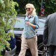Gwen Stefani, enceinte et radieuse, accompagne son fils Kingston à l'école le vendredi 20 septembre 2013 à Van Nuys.
