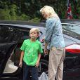 La chanteuse Gwen Stefani, enceinte, accompagne son fils Kingston à l'école le vendredi 20 septembre 2013 à Van Nuys.