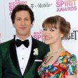 Andy Samberg et Joanna Newsom lors des Independent Spirit Awards au Santa Monica Pier de Los Angeles le 23 février 2013