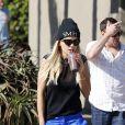Rita Ora et son petit ami DJ Calvin Harris à l'EarthBar. Los Angeles, le 21 septembre 2013.