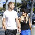 Rita Ora et son petit ami DJ Calvin Harris se rendent à l'EarthBar à Los Angeles, le 21 septembre 2013.