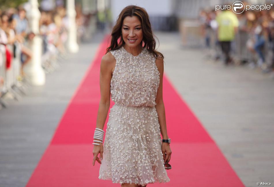 Michelle Yeoh à la soirée d'ouverture du 61e San Sebastian Film Festival, le 20 Septembre 2013