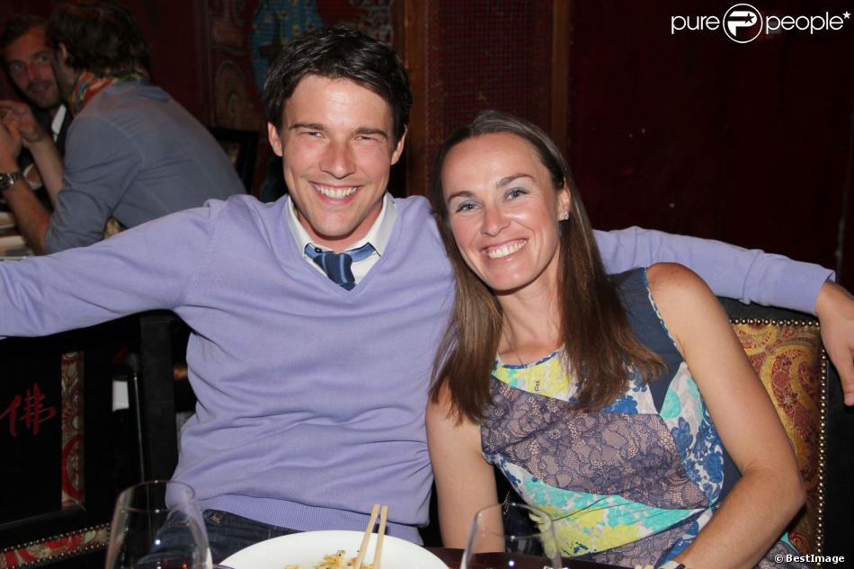EXCLUSIF - Martina Hingis et son mari Thibault Hutin lors de la soirée du Trophée des Légendes au Buddha Bar à Paris le 5 juin 2013