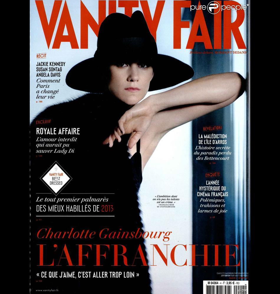 Charlotte Gainsbourg en couverture et interview de Vanity Fair, édition française du mois d'octobre 2013