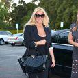 Jessica Simpson, son fiancé Eric Johnson et leur fille Maxwell vont au restaurant, à Los Angeles, le 24 septembre 2013.