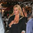La chanteuse Jessica Simpson, son fiancé Eric Johnson et leur fille Maxwell vont au restaurant, à Los Angeles, le 24 septembre 2013.
