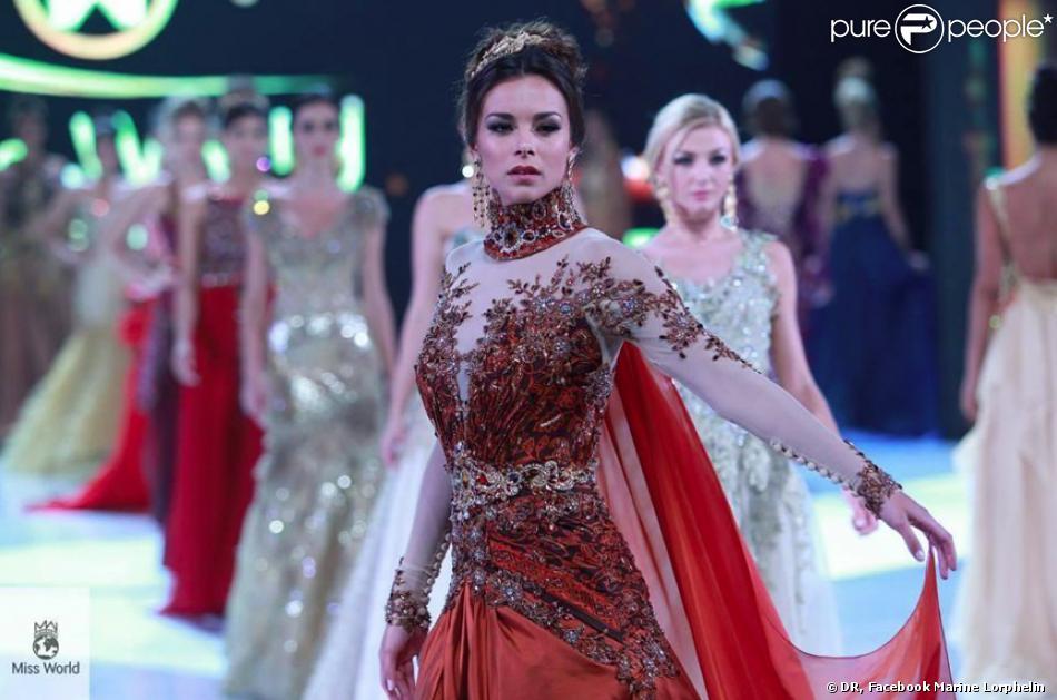 La divine Marine Lorphelin durant l'aventure Miss Monde 2013 à Bali en septembre 2013