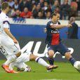 Zlatan Ibrahimovic lors du match de football PSG - Toulouse au Parc des princes, le 28 septembre 2013