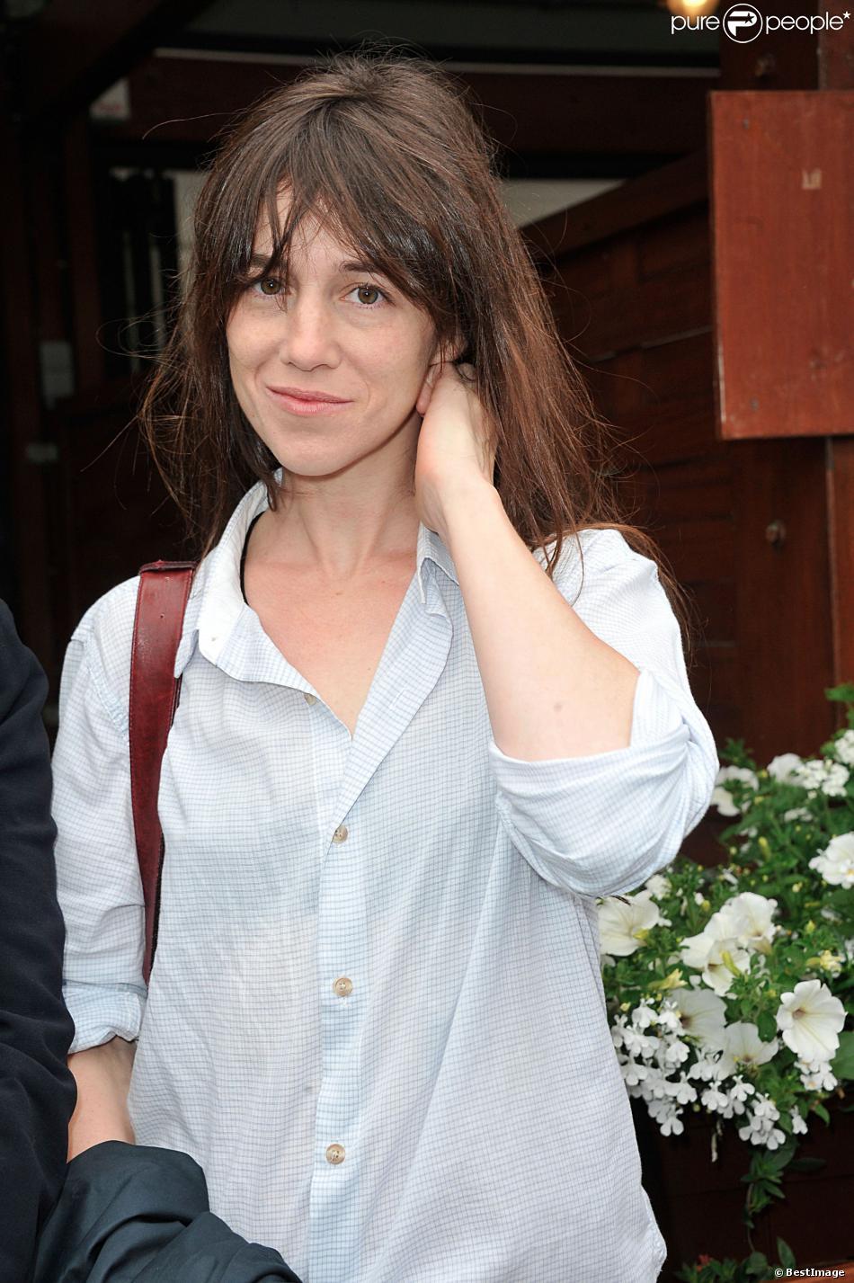 Charlotte Gainsbourg à Roland-Garros le 9 juin 2013