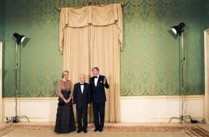 Maxima des Pays-Bas : Couronnée et élégante pour recevoir Shimon Peres