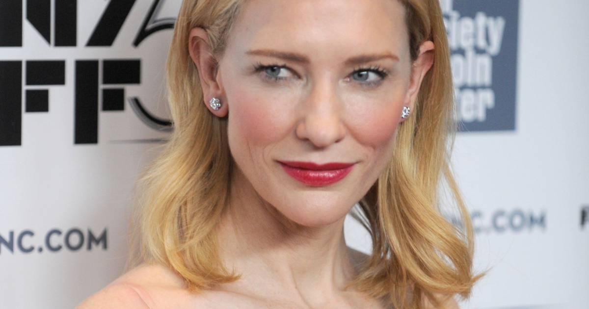 Cate Blanchett : Nude et dentelle pour un look près du