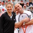 Andre Agassi et Steffi Graf à Roland-Garros le 6 juin 2009