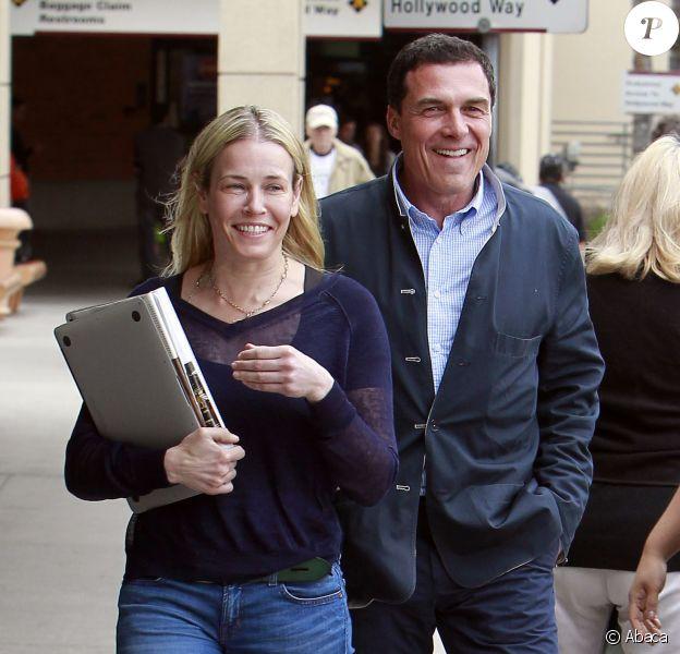 Chelsea Handler et son désormais ex-compagnon André Balazs à Los Angeles, le 5 mai 2013.