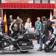 La princesse Letizia d'Espagne lors d'El Día de la banderita (la journée du drapeau), organisée pour récolter des fonds en faveur de la Croix Rouge à Madrid, le 3 octobre 2013