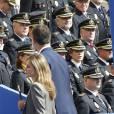 Le prince Felipe et la princesse Letizia d'Espagne à la Journée de la police au palais Arzobispal à Alcala de Henares le 2 octobre 2013
