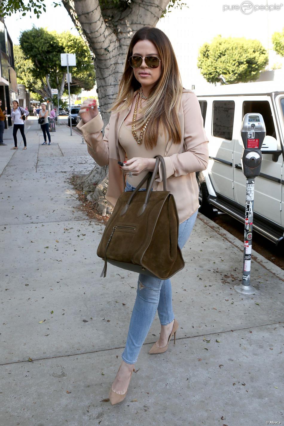 Khloé Kardashian se rend dans la boutique de vêtements Kitson à Beverly Hills. Le 2 octobre 2013.