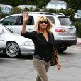 Suzanne Somers le 18 juillet 2013 à Malibu.