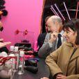 """Anne Hidalgo lors de l'inauguration de l'exposition """"Sex in the city"""" à l'initiative de Solidarité Sida sur la place de la Bastille à Paris, le 7 octobre 2013."""