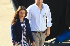 Mila Kunis, in love : Elle tient compagnie à Ashton Kutcher, en plein travail