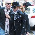 Madonna et ses enfants Rocco, Mercy et David se rendant au centre de la Kabbale de New York le samedi 12 octobre 2013.