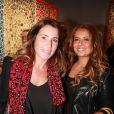 """Sandrine Diouf à l'opening de la Gallery Shchukin, avenue Matignon, avec l'exposition """"Beauty and Power"""" de David Datuna à Paris, le jeudi 10 octobre 2013."""