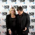 Kate Winslet, enceinte, et Josh Brolin, lors du photocall du film Last Days of Summer (Laboy Day), le 14 octobre 2013 à Londres dans le cadre du BFI London Festival