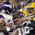 Adrian Peterson lors d'un match à Green Bay, le 8 septembre 2008.