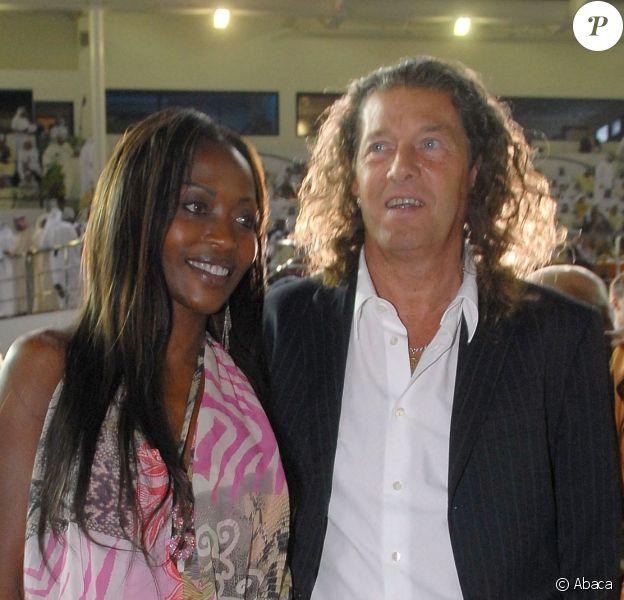 Bruno Metsu et sa femme Viviane à Dubaï le 31 mars 2007.