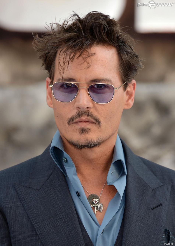 Johnny Depp lors de l'avant-première à Londres du film Lone Ranger le 21 juillet 2013