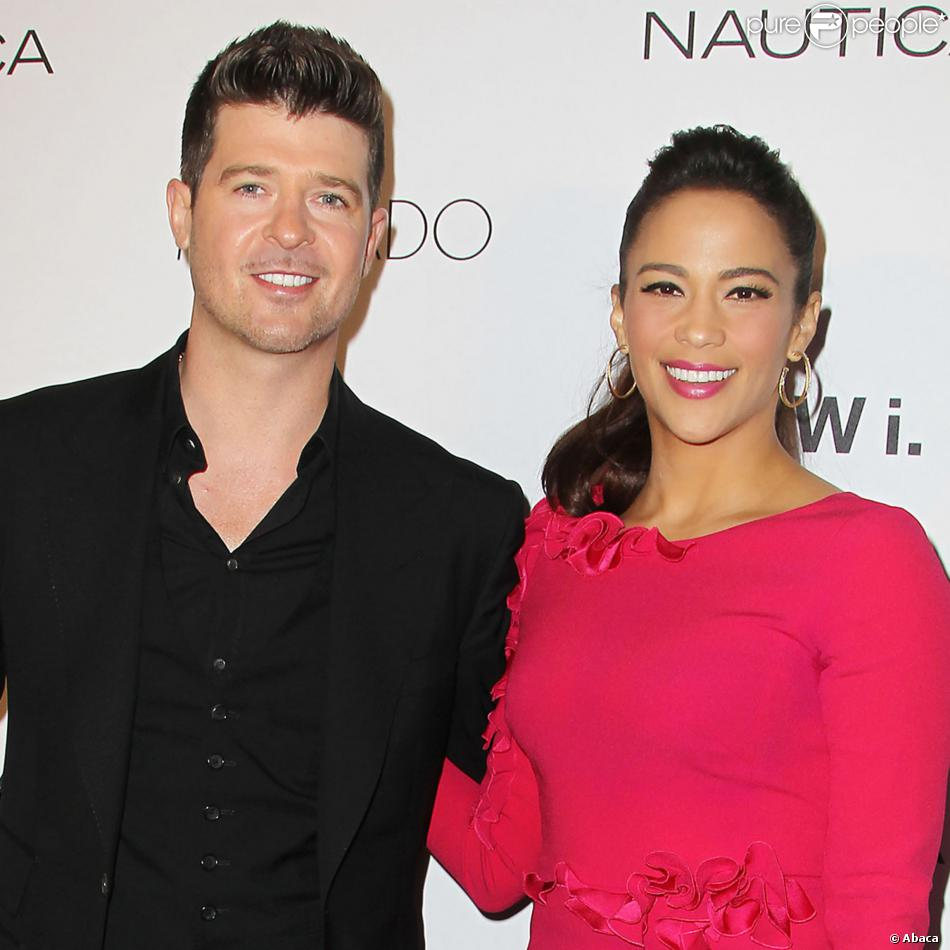 "Robin Thicke et Paula Patton à la soirée ""GQ Gentlemen's Ball"" à New York, le 23 octobre 2013."