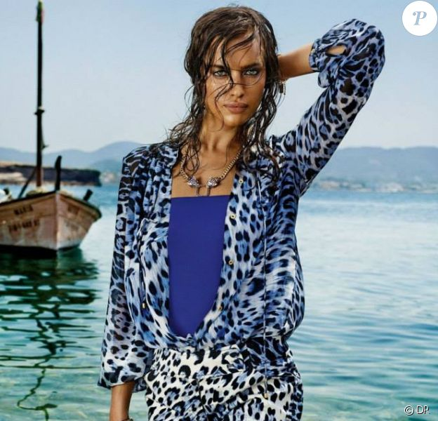 Irina Shayk, visage de la collection Roberto Cavalli para C&A, élaborée par Roberto Cavalli pour C&A Brésil.