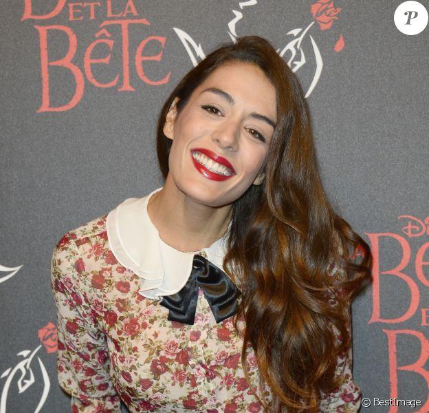 """Sofia Essaïdi à la générale de la comédie musicale """"La Belle et la Bête"""" au Théâtre Mogador à Paris, le 24 octobre 2013."""