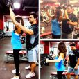 Danielle Jonas fait de l'exercice, photo Instagram, le 24 octobre 2013.