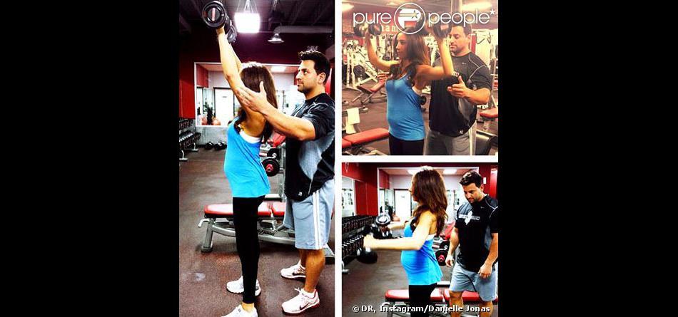 Danielle Jonas fait de l'exercice, photo Instagram, le 24 octobre 2013.