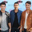 Les Jonas Brothers à la cérémonie des Teen Choice Awards 2013 au Gibson Amphitheatre à Universal City. Le 11 août 2013.