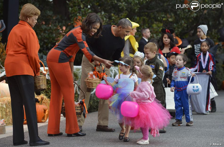 Michelle et barack obama halloween la maison blanche for Barack obama maison blanche
