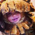 Sebastian, le fils d'Amber Rose et Wiz Khalifa, déguisé en bébé lion pour Halloween.