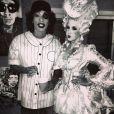 Wiz Khalifa en joueur de base-ball et Amber Rose en Marie-Antoinette pour Halloween.