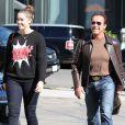 Arnold Schwarzenegger et sa fille Christina à Brentwood, le 5 novembre 2013.