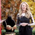 Candice Swanepoel dévoile le Royal Fantasy Bra de Victoria's Secret dans l'émission Good Morning America, diffusée sur ABC. New York, le 6 novembre 2013.