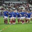 L'equipe de France de Rugby a XV - L'equipe de Nouvelle-Zelande fait le Aka - Match de rugby France-Nouvelle-Zelande (All Blacks) au stade de France, Saint-Denis, le 9 Novembre 2013.