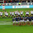 L'equipe de Nouvelle-Zelande fait le Aka - Match de rugby France-Nouvelle-Zelande (All Blacks) au stade de France, Saint-Denis, le 9 Novembre 2013.
