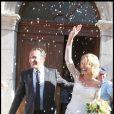 Alexandra Lamy et Jean Dujardin lors de leur mariage à Anduze le 25 juillet 2009