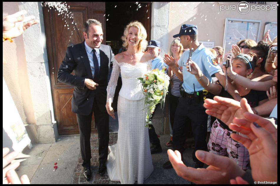 Alexandra lamy et jean dujardin pendant leur mariage for Alexandra et jean