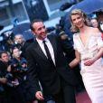 Jean Dujardin et Alexandra Lamy à Cannes le 27 mai 2012.